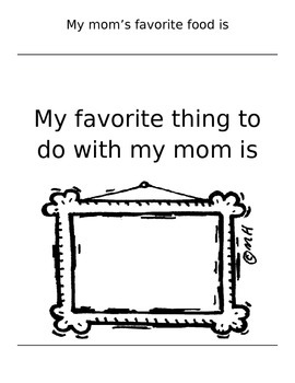 Mother's Day Book Writing Activity