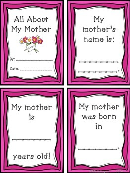 Mother's Day Book and Activities