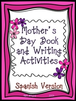 Mother's Day Book and Activities - SPANISH