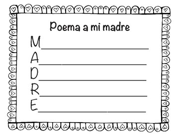 Mothers Day Book in English and Spanish