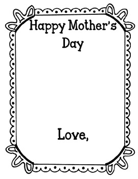 Mother's Day Book or Card