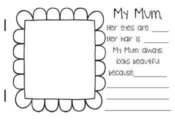 Mothers Day Booklet Australian English Mum