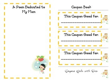 Mother's Day Booklet- Cute Keepsake Booklet For Mom to Cherish
