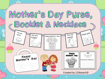 Mother's Day Purse, Booklet &  Cute Necklace