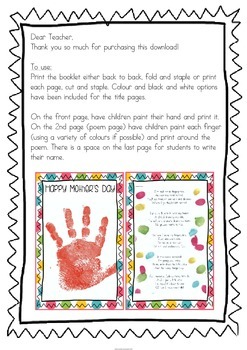 Mother's Day Book - British/Australian Version