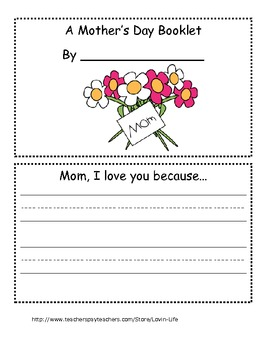 Mother's Day Booklet for Mom
