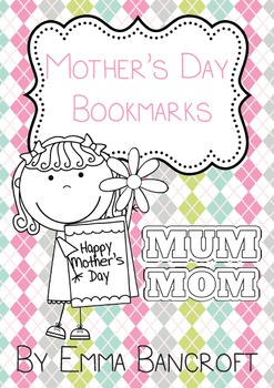 Mother's Day Bookmark Craft: Mum and Mom