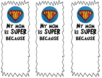 Mother's Day Bookmark Freebie