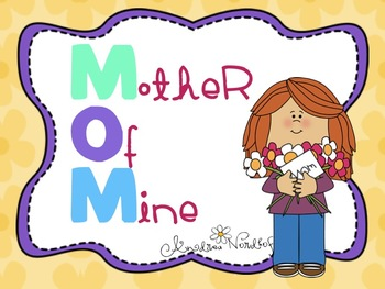 Mother's Day Bubble Map and Writing Fun!