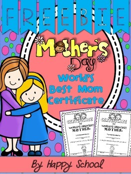 Mother's Day Bundle FREEBIE - Certificate