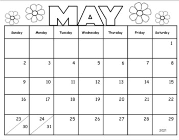 Mother's Day Calendar Parent Gift