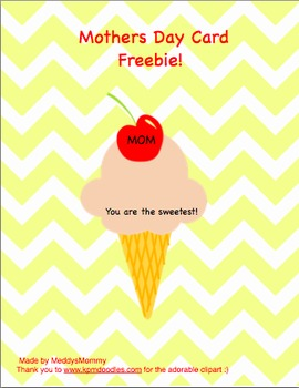 Free Mothers Day Card Activity!