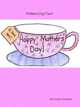 Mother's Day Card & Book Craft