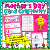 Mother's Day Card Craftivity (Father's Day card file is included, too!)