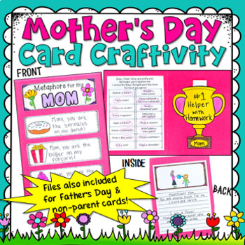 Mother's Day Card Craftivity (includes a Father's Day card