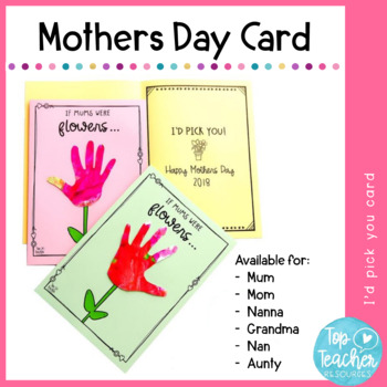 Mothers Day Card - I'd pick you!