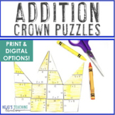 ADDITION Mothers Day Craft Project to Make a Card! {Crown Royalty Adding Puzzle}