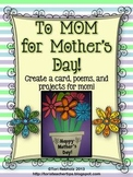 Mother's Day Card, Poetry, and Projects!