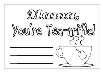 Mothers Day Card Template (A5 size)