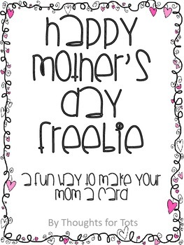 Mother's Day Card Template FREEBIE!