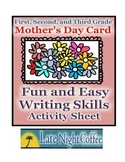 Mother's Day Card Writing Activity Sheet-First, Second,Thi