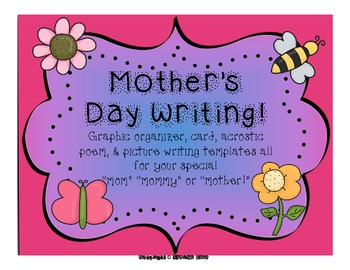 Mother's Day Card & Writing Pack!!