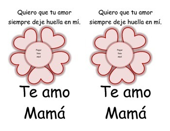 Mother's Day Card in English and Spanish