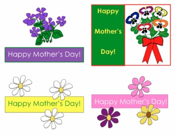 Mother's Day Cards (Postcard Style)