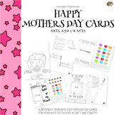 Mothers Day Cards Arts and Crafts Templates