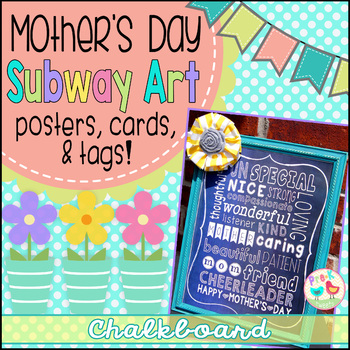 Mother's Day Card - Chalkboard Subway Art