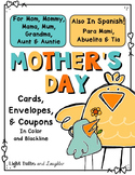Mothers Day Cards, Coupons, and Envelopes - Also in Spanish!