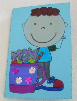 Mother´s Day Cards  to Color