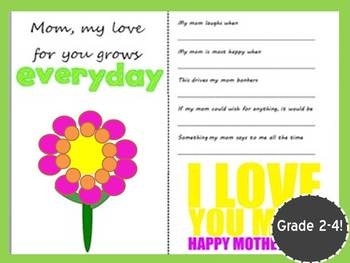 Mother's Day Cards/Coupon Book