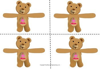 Mother's Day Chocolate Hugger Bears Free Resource