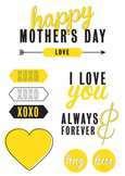 Mother's Day Clip Art Set
