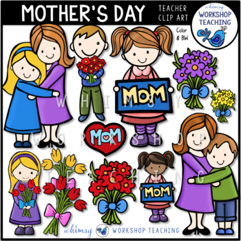 Mother's Day Clip Art - Whimsy Workshop Teaching