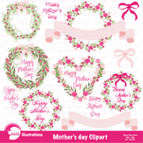 Mothers Day Clipart, Hearts clipart, Roses, Frames Clip Art, AMB-865