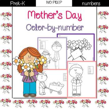 Mother's Day Color by Code {Number}