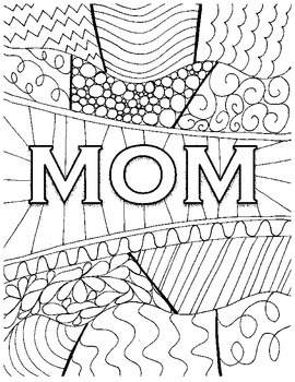 Mother Day Coloring Page & Worksheets | Teachers Pay Teachers