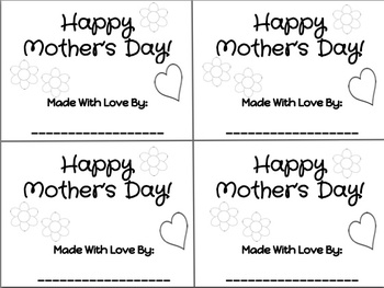 Mother's Day Coloring and Writing Book