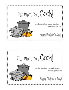 Mother's Day Cookbook Class Activity