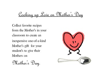 Mother's Day Cookbook Project
