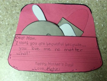 Mother's Day Cosmetic Bag Writing Project