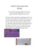 Mother's Day Coupon Book, Kids fill in own ideas!