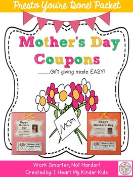 Mother's Day Coupon Book and Craft