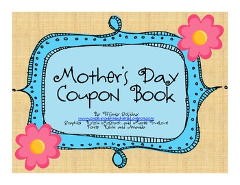 9afa4a9ec7dd1 Mother's Day Coupon Book for Kids