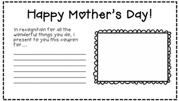 Mother's Day Coupon Book (multiple sizes)