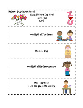 Mother's Day Coupon Booklet Filled With Cute Activities $Dollar Deal