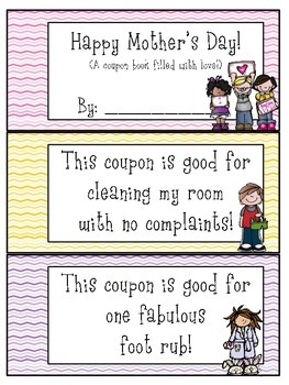 Mother's Day Coupon Booklet *** freebie ***