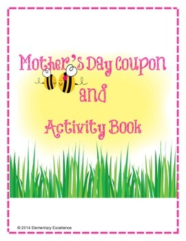 Mother's Day Coupon and Activity Book